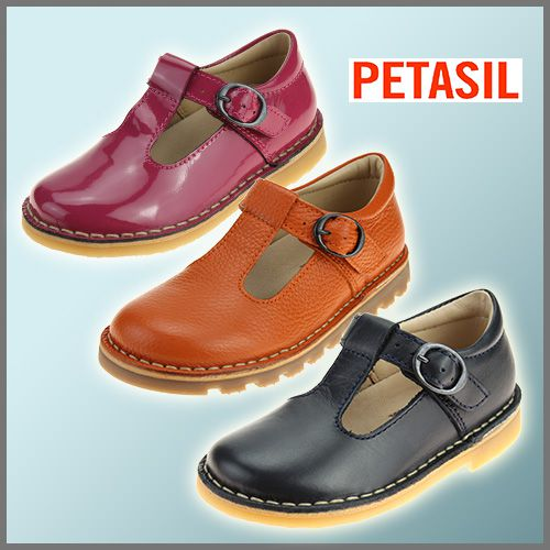 Petasil T-bar Shoes in many colours