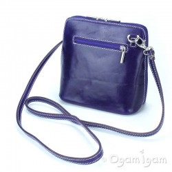 Vera Pelle Womens Purple Cross Body Leather Bag