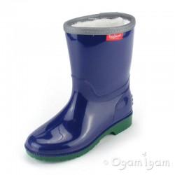 Toughees Boys / Girls Blue Fleece Lined Wellington Boot