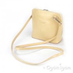 Vera Pelle Womens Cream Cross Body Leather Bag