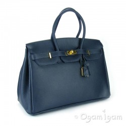 Womens Large Navy Blue Handbag