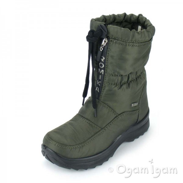 Romika Colorado Womens Waterproof Fleece Green Boot