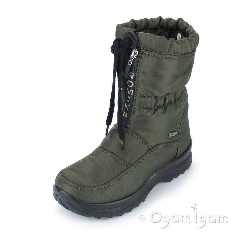 1a91d8ea Romika Colorado Womens Waterproof Fleece Green Boot | Ogam Igam