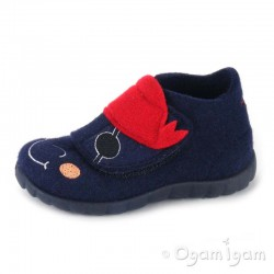 Superfit Boys Blue Pirate Slipper 29581