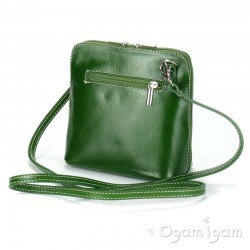 Vera Pelle Womens Green Cross Body Leather Bag
