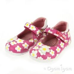 Garvalin 122930 Girls Fuchsia Pink Flower Shoe