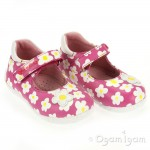 Garvalin 122930 Girls Fuchsia Pink Flower Shoe