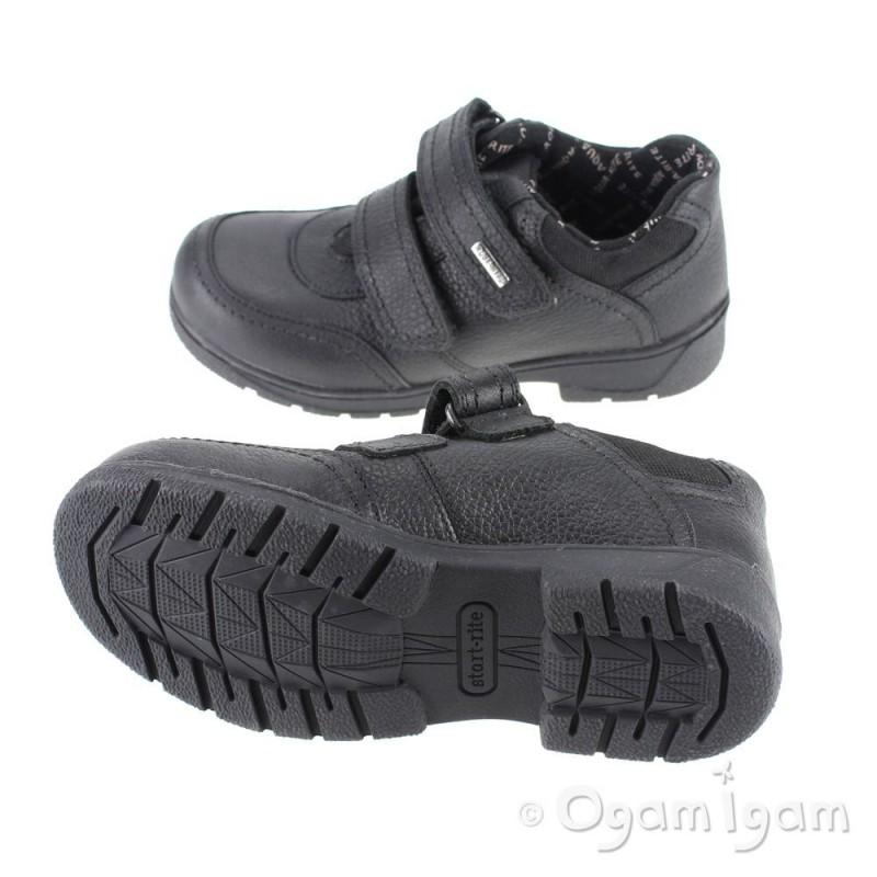b6e51f268 Start-rite Aqua Stream Boys Black Waterproof School Shoe | Ogam Igam