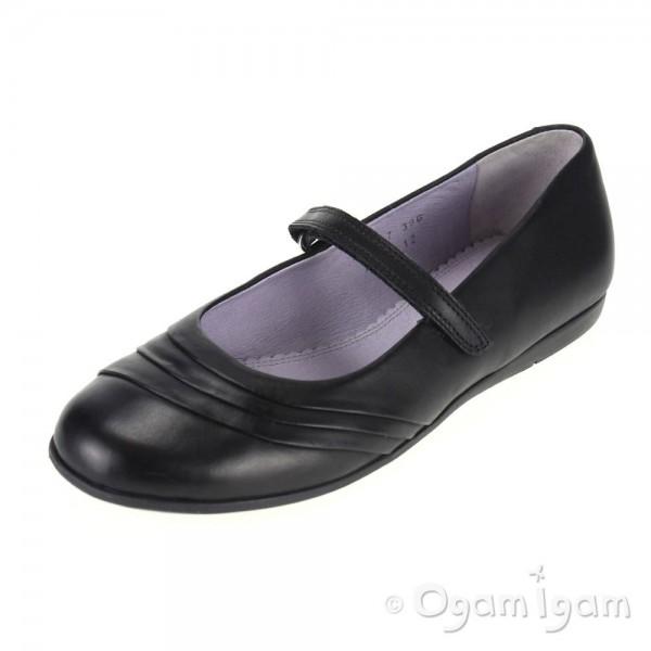Start-rite Dawn Girls Black School Shoe