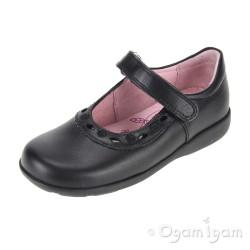 Start-rite Scissors Girls Black School Shoe