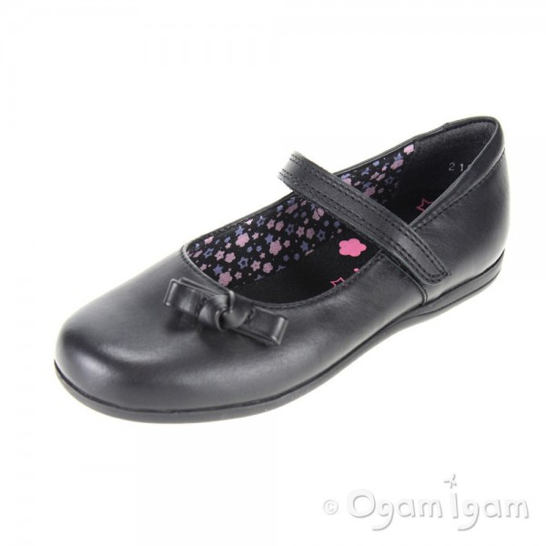 Start-rite Minnie Girls Black School Shoe