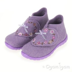 Superfit Lilac Flowers Girls Slipper