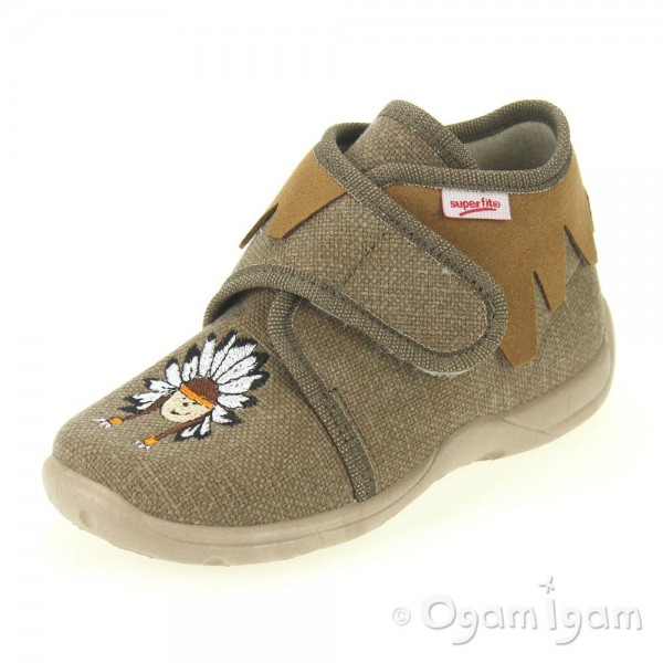 Superfit Boys Brown Slipper