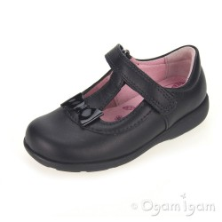 Start-rite Alpha Girls Black School Shoe