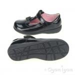 Start-rite Alpha Girls Black Patent School Shoe