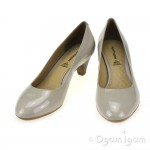 Hush Puppies Sanguin Womens Grey Patent Shoe