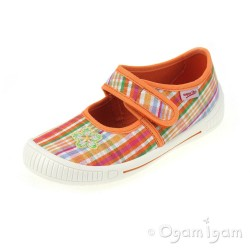 Superfit 0026297 Girls Sunburst Canvas Shoe
