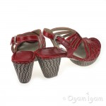 Josef Seibel Julia 01 Womens Red Sandal