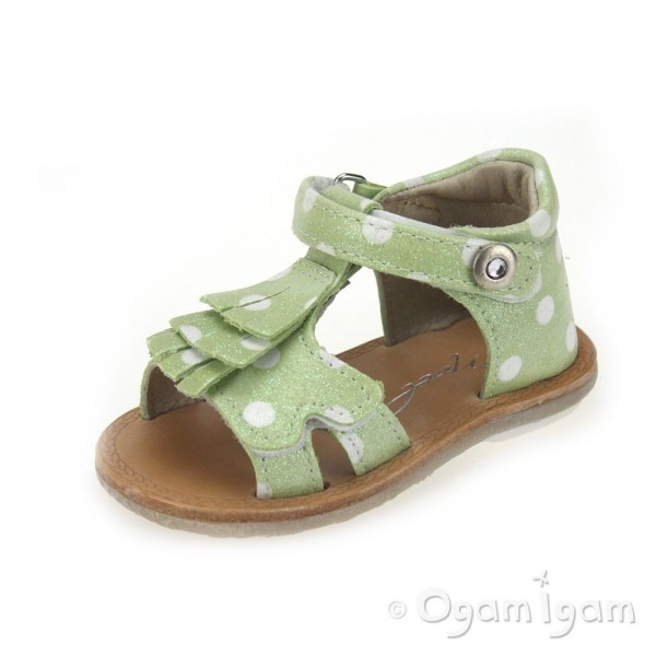 Noel Mini Sidor Girls Green Sandal