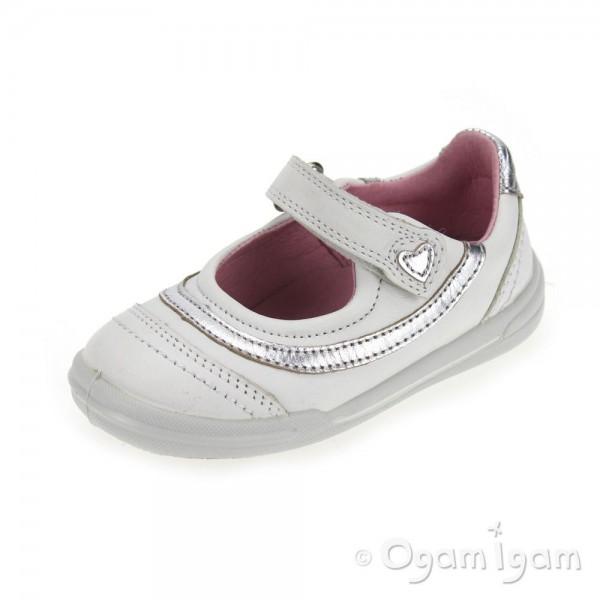 Start-rite Flexy-Soft Feather Girls White Shoe
