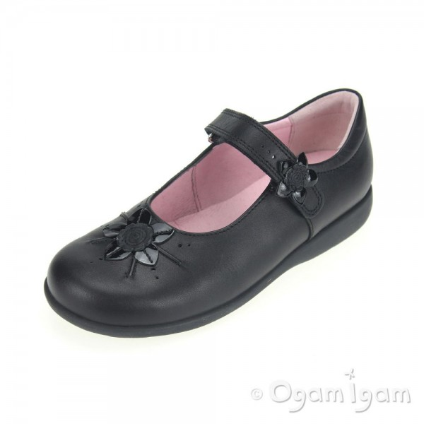 Start-rite Violet Girls Black School Shoe 21597