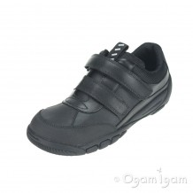 Start-rite Lift Off Boys Black School Shoe