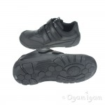 Start-rite Lift Off Boys Black School Shoe