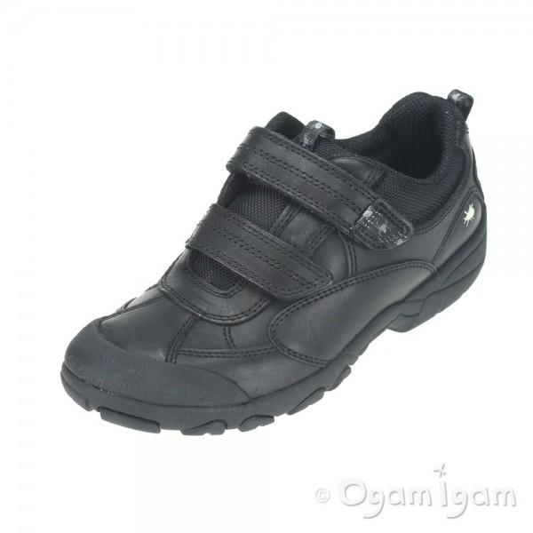 Start-rite Arachnid Boys Black School Shoe