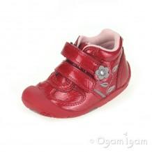 Start-rite Go Infant Girls Red Patent Boot