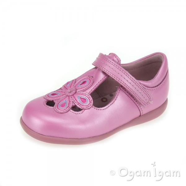 Start-rite April Girls Bright Pink Shoe