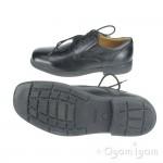 Geox Federico Boys Black School Shoe