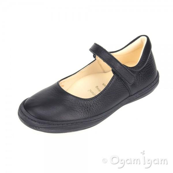 Primigi Morine Girls Black School Shoe