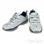 Skechers Ragged Dox Boys White Navy Trainer
