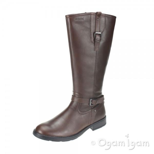 Geox Sofia Girls Tan Brown Boot