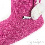 Coolers A217 Womens Pink Boot Slipper