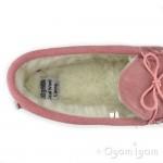 LodgeMok A211 Womens Pink Leather Slipper