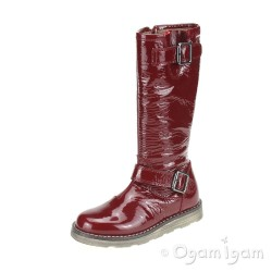 Garvalin 131523 Girls Patent Red Boot