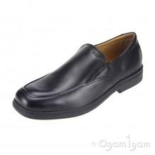Geox Federico Slip on Boys Black School Shoe