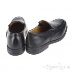 Geox Federico Slip on Boys Black School Shoe