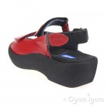 Wolky Jewel Womens Red Sandal
