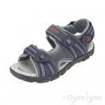 Geox Strada Boys Navy/Orange Sandal
