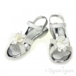 Geox Giglio Girls White/Silver Sandal