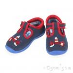 Start-rite Seaside Infant Boys Navy Canvas Shoe