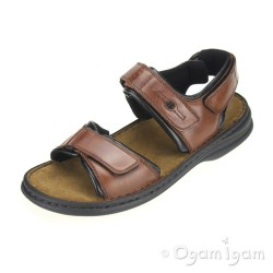 Josef Seibel Rafe Mens Choco Brown Sandal
