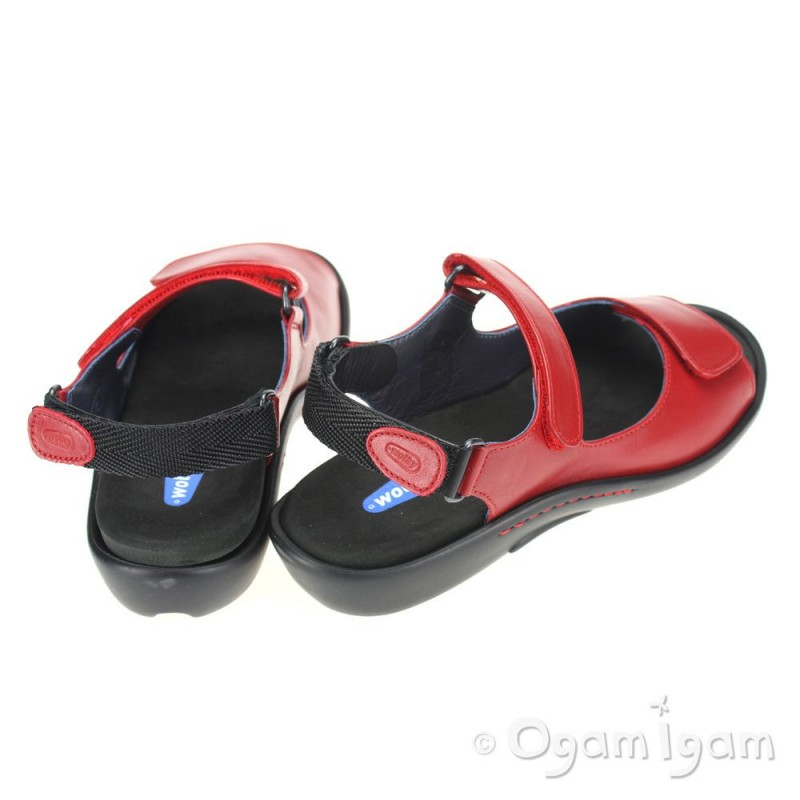 Wolky Salvia Womens Red Sandal Ogam Igam