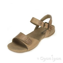 Romika Barbara 101 Womens Cashmere Brown Sandal