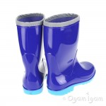 Toughees Unlined Boys Girls Blue Wellington Boot