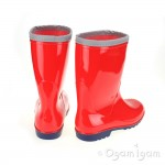 Toughees Unlined Boys / Girls Red Wellington Boot