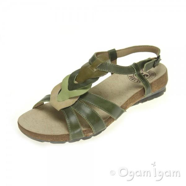 Josef Seibel Andrea 03 Womens Olive Green Sandal