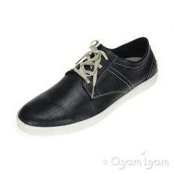 Softinos Ted Mens Black Shoe
